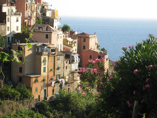 B&B Casa vacanze il Gatto: Corniglia from trail