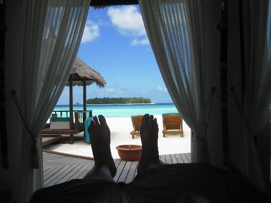 بانيان تري جزر المالديف: View from bed