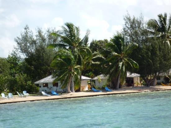 Opoa, Französisch-Polynesien: vue du ponton