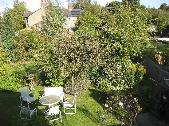 Sandfield Guest House: my room view into the garden Sunday morning