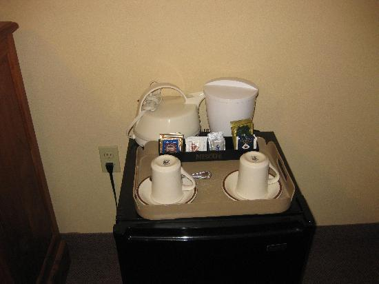 Tradewinds Hotel: tea and coffee making facilities in room