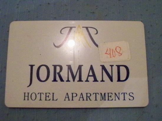 Jormand Hotel Apartments : Room Key