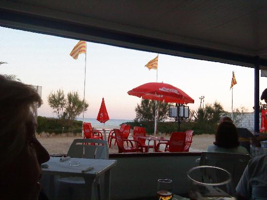 Camping La Torre del Sol: View from Seafood restaurant on beach