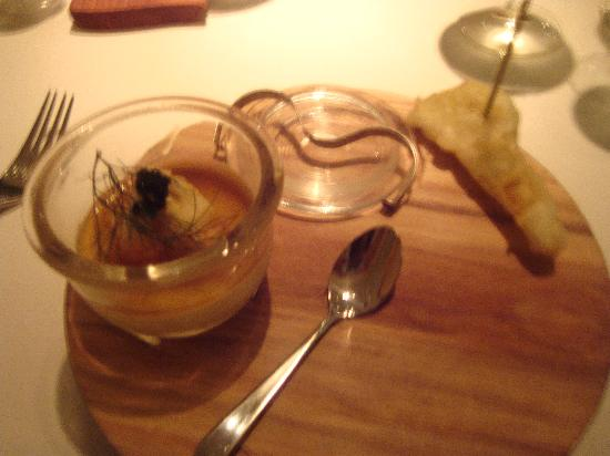 Northcote Hotel: Starter -Langoustine stuff with caviar and cauliflower tempra - delish!