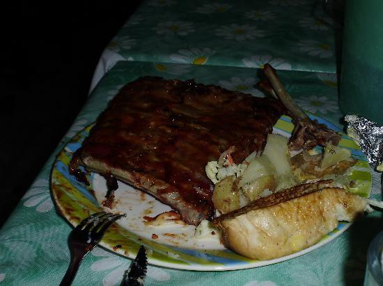 Awesome ribs at Fat Fish.