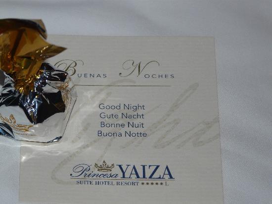 Princesa Yaiza Suite Hotel Resort: detalle del hotel todas las noches
