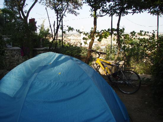 A tent site at Camping Castel San Pietro
