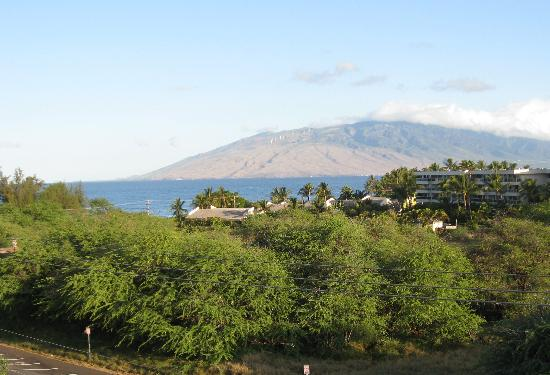 Haleakala Shores Condos: View from lanai.