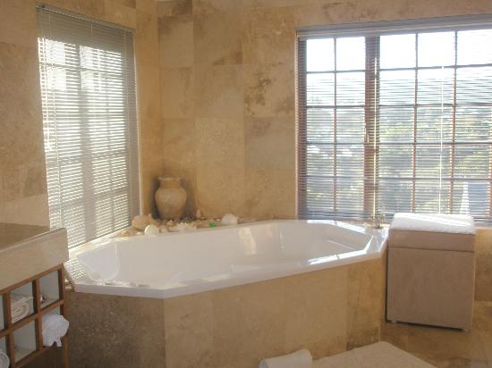 Halcyon House: The spa bath at the Kingfisher Suite