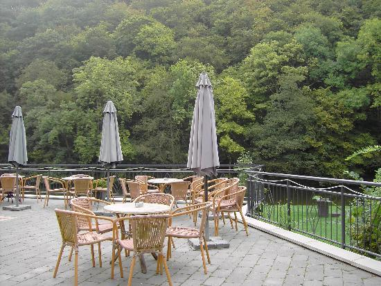 Bourscheid, Luxembourg: the terrace