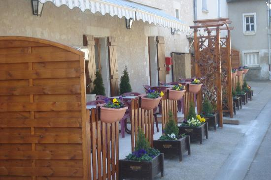 Barrou, France : With its terrace behind
