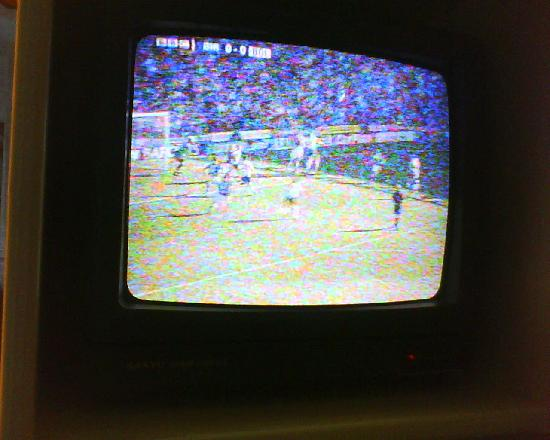 The Park View: Tv which only received 1 channel which was distorted