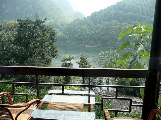 Li River Resort: The view over from our room.