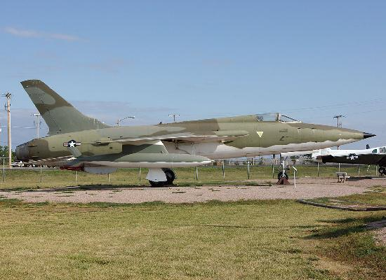 South Dakota Air and Space Museum : An F-105B 'Thud' on display outside.