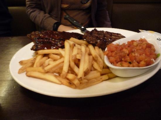 Tony Romas Ribs Seafood Steak: Ribs and steak