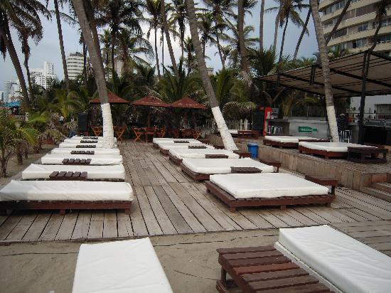 Hotel Dann Cartagena : private beach area