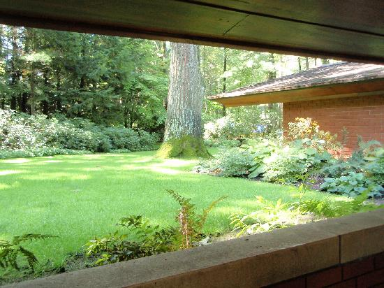 Zimmerman House: View of Garden from Carport