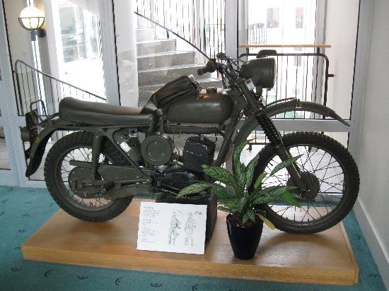 Clarion Collection Tapto: Motorcycle on display on thrid floor