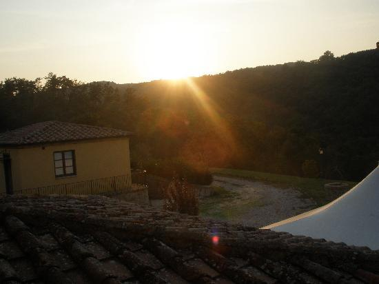 Hotel Rotelle: tramonto dalla suite