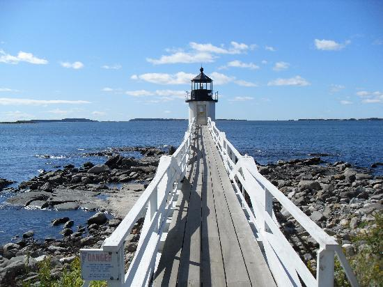 Sheepscot Harbour Village Resort & Spa: Lighthouse from Forrest Gump movie