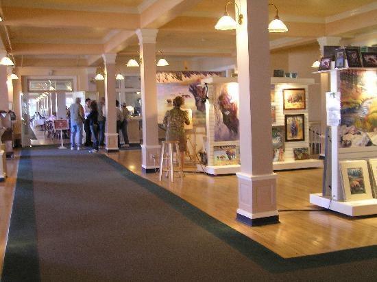 Lake Yellowstone Hotel Dining Room: Small Art Gallery Before You Enter The  Restaurant