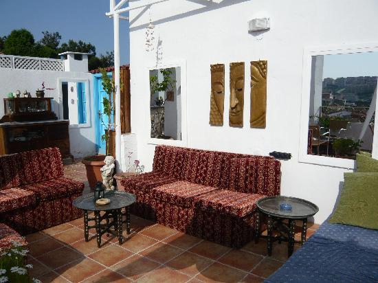 Anzac Golden Bed Pansiyon: Terrace great place to relax