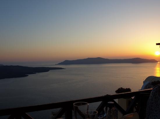 Hotel Eleftheria: fira sunset
