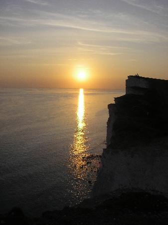 The Devonshire Park Hotel Eastbourne: sunset from Beachy Head