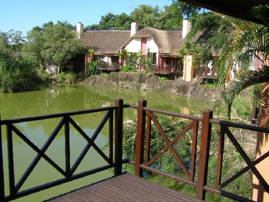 Umbhaba Lodge: view over the pond