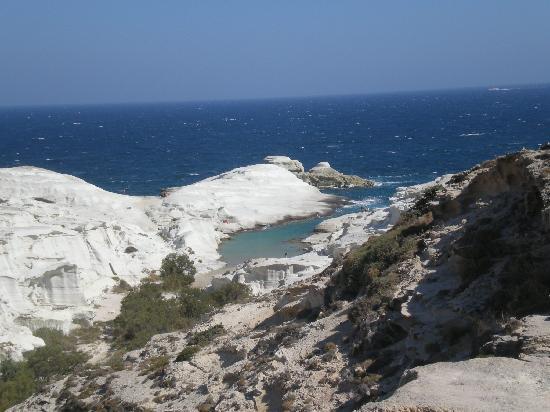 Milos, Greece: sarakiniko