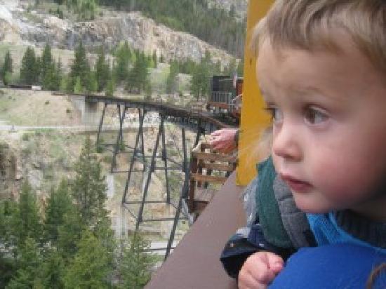 Georgetown Loop Historic Railroad: Son on Colorado vacation