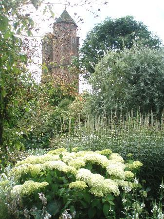 Sissinghurst Castle Garden: Vita Sackville-West's Tower at Sissinghurst-viewed from the White Garden