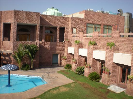 Shree Ram International: pool view from room balcony