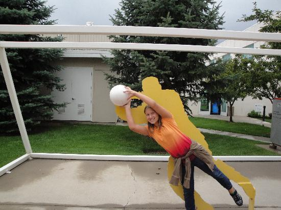 Olympic Training Center: Playing goalie against one of the sports depictions