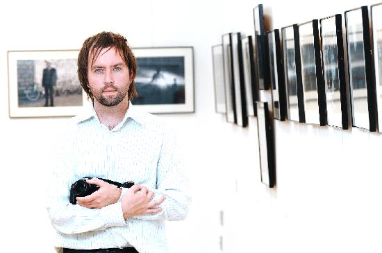 Photographer, Raymond McCarron, exhibiting at the Alley Theatre