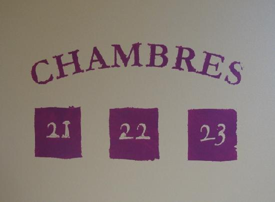 Le Vieux Carre : Hand-painted room numbers