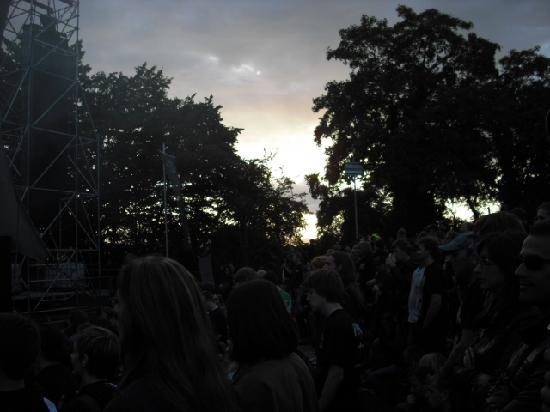 Weinhotel Landsknecht: Sunset at the Loreley auditorium