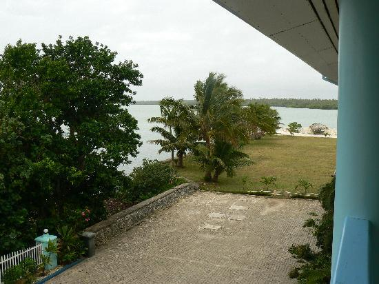 Lagoon Lodge: view of lagoon from top floor balcony