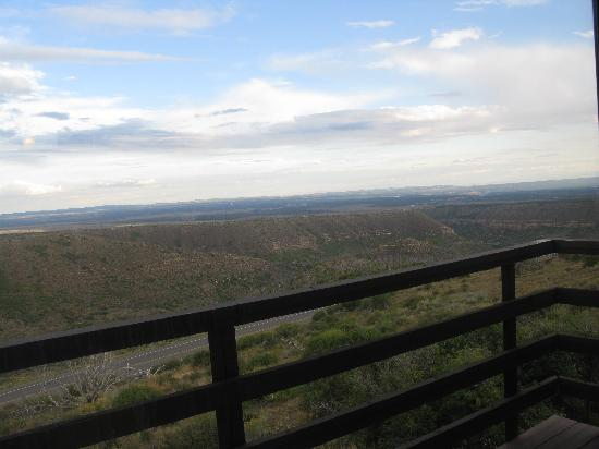 View from our private deck at Far View Lodge inside Mesa Verde National Park in Colorado