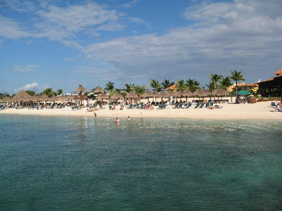 Occidental Cozumel: View from boat