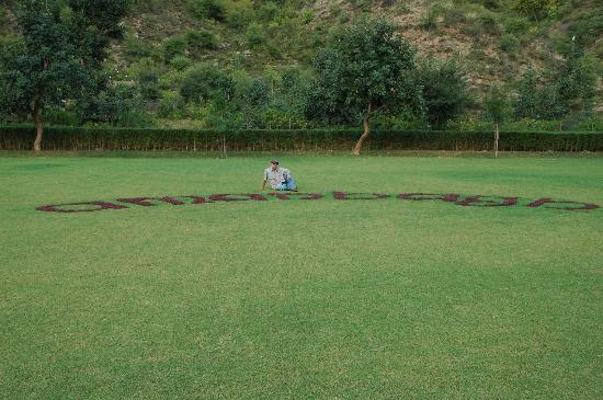 Amanbagh: On the helo pad