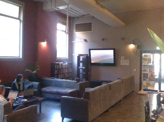 Big Hostel: Biggest LCD screen I've ever seen!