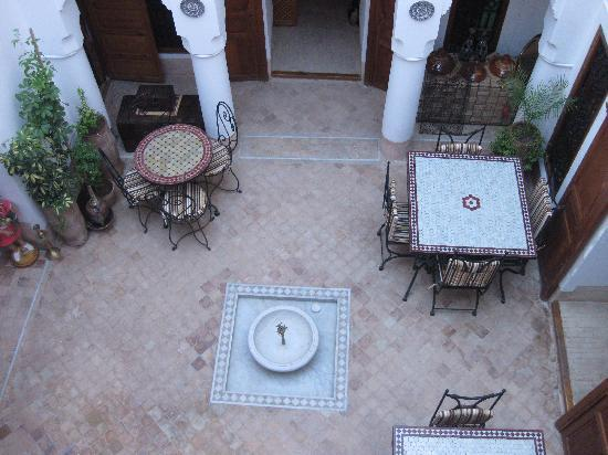 Riad Slawi: Looking down on the courtyard