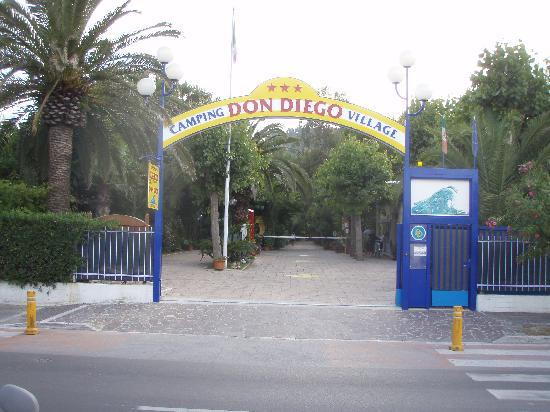 Entrance to Camping Don Diego