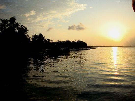 Dayapur Island, India: Sunset at Sunderbans