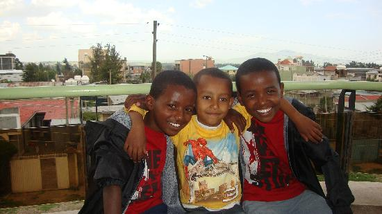 Ethio Comfort Guest House: Our boys with Tsebay's nephew