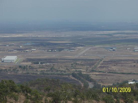 Castle Hill: Looking down to the Airport