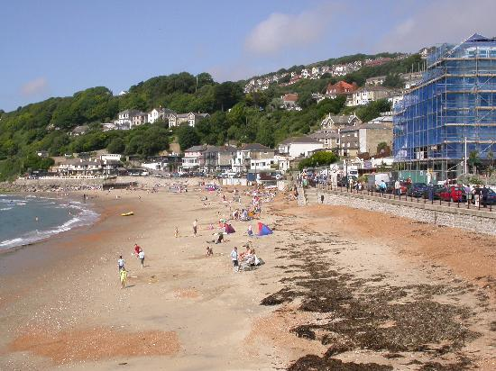Ventnor Beach with St Andrew's on the hill