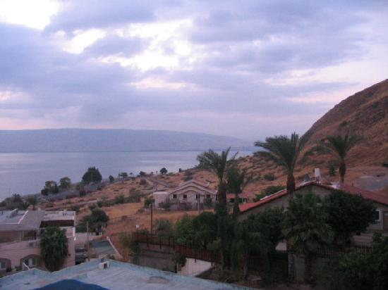 Royal Plaza: View of the Sea of Galilee from our hotel room