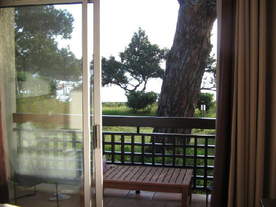 Hôtel Moby Dick : vue de la terrasse pour les chambre côté mer